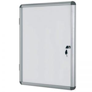 avizier magnetic cu cheita geam protector si rama din aluminiu bi office 720x674 mm 9038