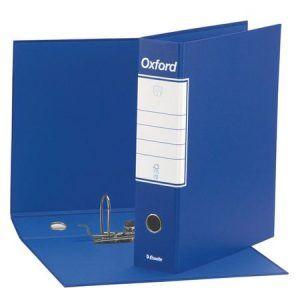 biblioraft a4 cu cutie 8 cm esselte oxford albastru 9608