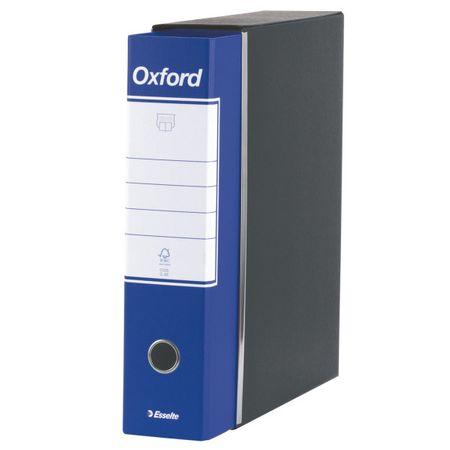 biblioraft a4 cu cutie 8 cm esselte oxford albastru deschis 9609