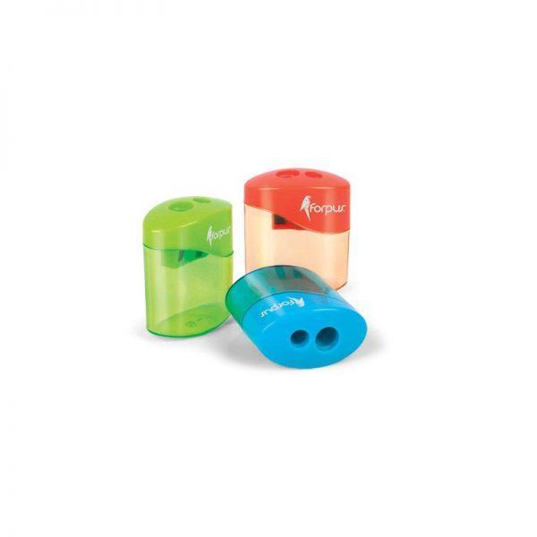 ascutitoare plastic dubla cu container forpus 8798