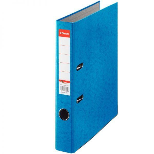 biblioraft a4 marmorat color 5 cm esselte rainbow albastru 9618