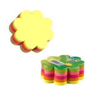 cub autoadeziv floare 67x67 mm stickn 5 culori neon 250 filebuc 9249
