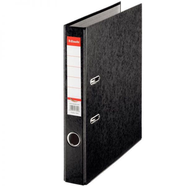 biblioraft a4 marmorat color 5 cm esselte rainbow negru 9620