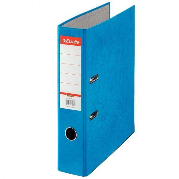 biblioraft a4 marmorat color 75 cm esselte rainbow albastru 9623