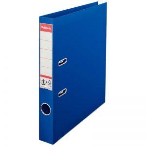 biblioraft a4 plastifiat 5 cm esselte standard albastru 9639