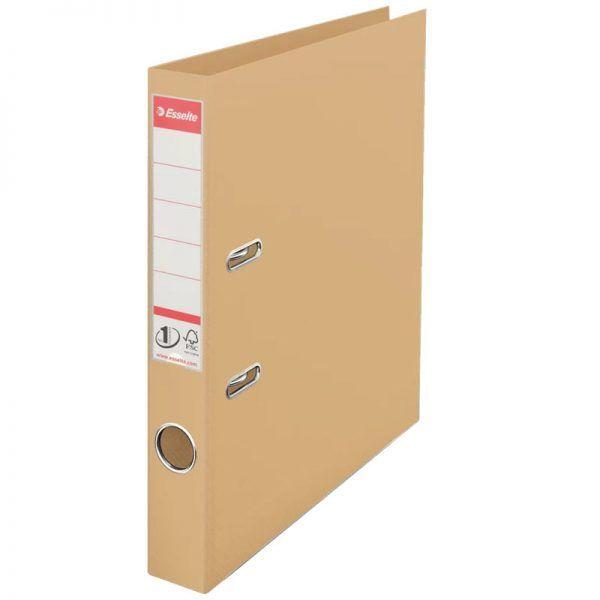 biblioraft a4 plastifiat 5 cm esselte standard crem nisip 9643