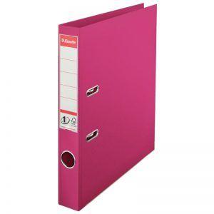 biblioraft a4 plastifiat 5 cm esselte standard fuchsia 9646