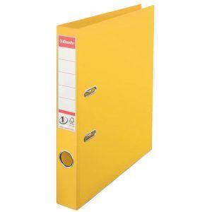 biblioraft a4 plastifiat 5 cm esselte standard galben 9647