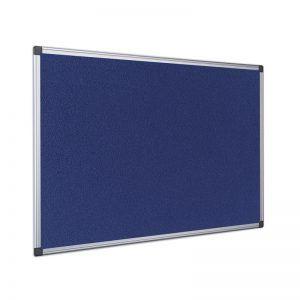 panou din material textil cu rama din aluminiu bi office 90x120 cm albastru 9123