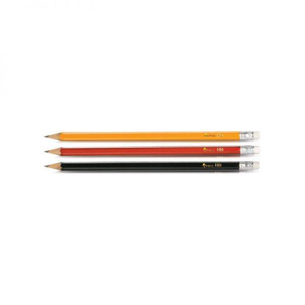 creion hb cu guma forpus corp rosu 8855