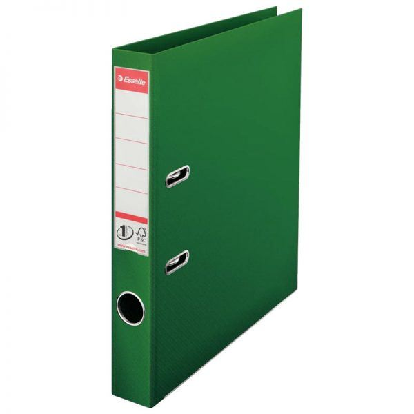 biblioraft a4 plastifiat 5 cm esselte standard verde 9654