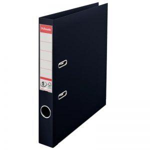 biblioraft a4 plastifiat 5 cm esselte standard vivida negru 9660