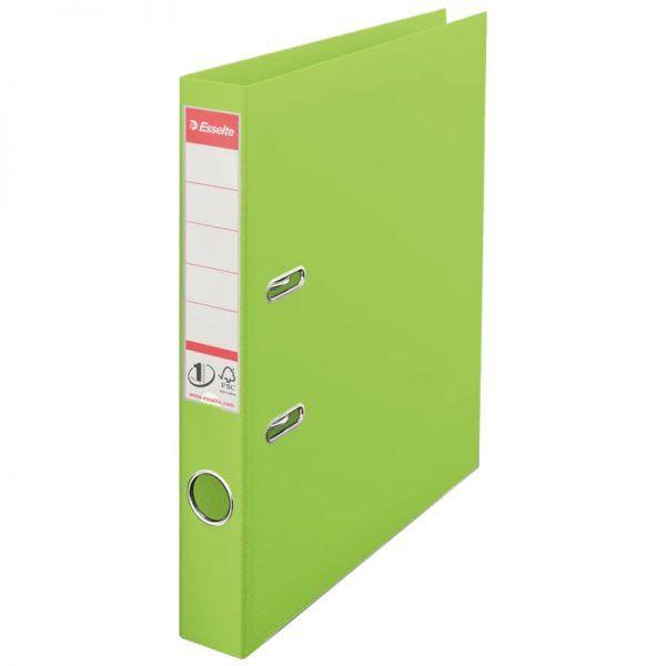 biblioraft a4 plastifiat 5 cm esselte standard vivida verde 9662