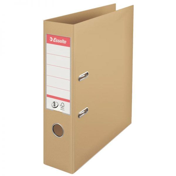 biblioraft a4 plastifiat 75 cm esselte standard crem nisip 9678