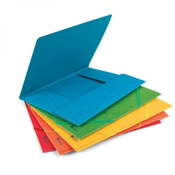 mapa carton forpus cu elastic albastru 8888