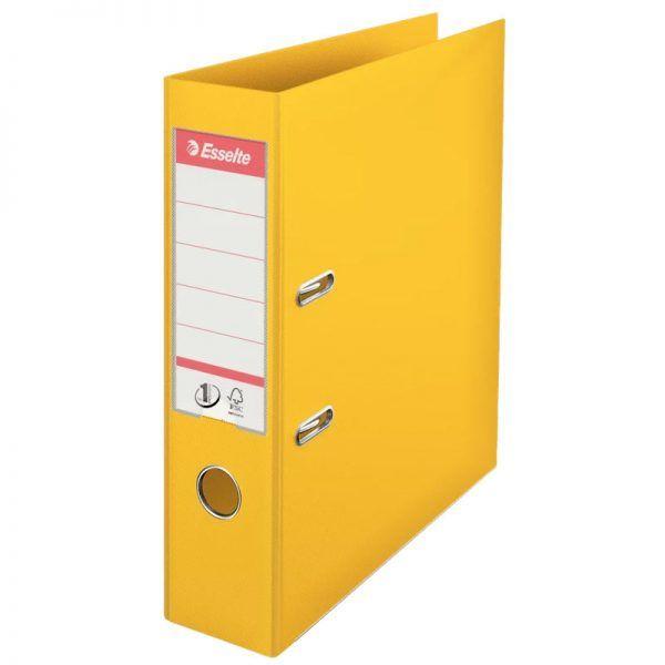 biblioraft a4 plastifiat 75 cm esselte standard galben 9682