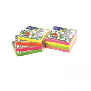 notes autoadeziv 75x75 mm forpus roz neon 80 filebuc 8911
