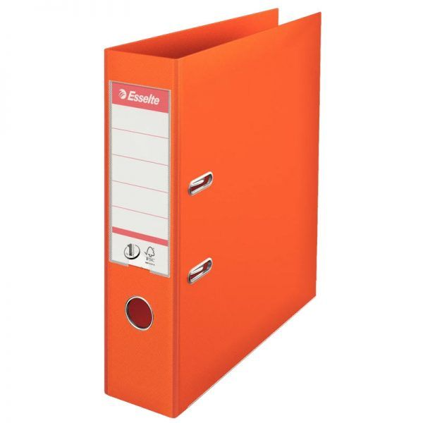 biblioraft a4 plastifiat 75 cm esselte standard orange 9685