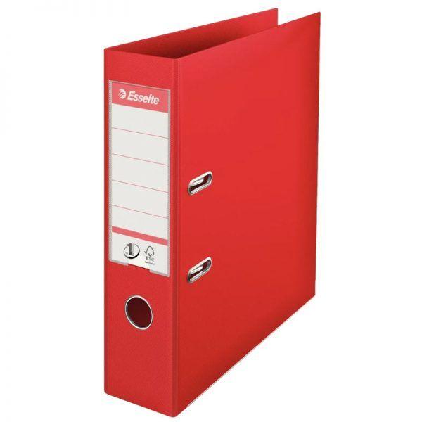 biblioraft a4 plastifiat 75 cm esselte standard rosu 9686