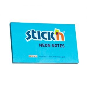 notes autoadeziv 127x76 mm stickn albastru neon 100 filebuc 9314