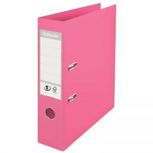 biblioraft a4 plastifiat 75 cm esselte standard roz 9687