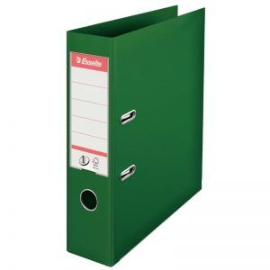 biblioraft a4 plastifiat 75 cm esselte standard verde 9689