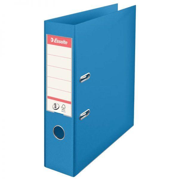 biblioraft a4 plastifiat 75 cm esselte standard vivida albastru 9693