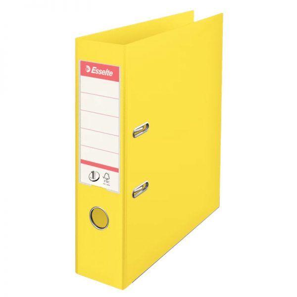 biblioraft a4 plastifiat 75 cm esselte standard vivida galben 9694
