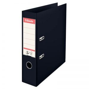 biblioraft a4 plastifiat 75 cm esselte standard vivida negru 9695