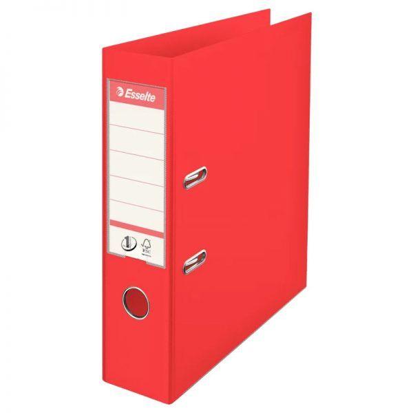 biblioraft a4 plastifiat 75 cm esselte standard vivida rosu 9696