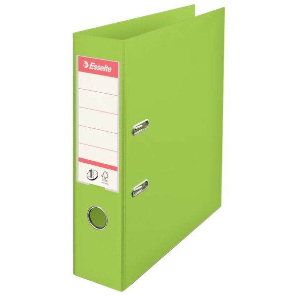 biblioraft a4 plastifiat 75 cm esselte standard vivida verde 9697