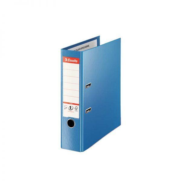 biblioraft a4 plastifiat 8 cm esselte jumbo plus vivida albastru 9699