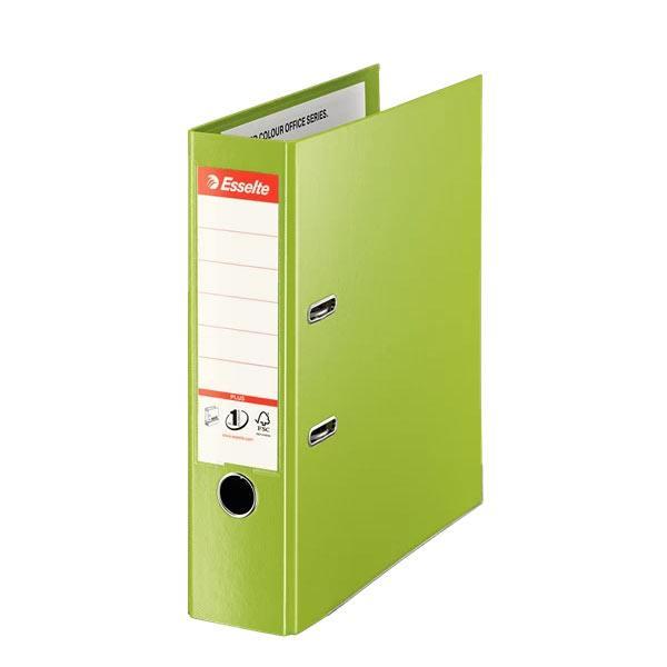 biblioraft a4 plastifiat 8 cm esselte jumbo plus vivida verde 9704
