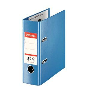biblioraft a5 plastifiat 75 cm esselte standard vivida portrait albastru 9706
