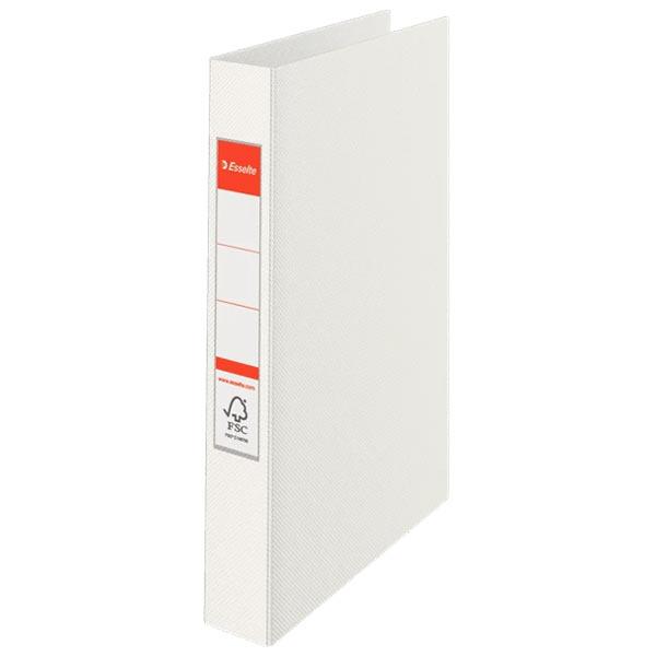 caiet mecanic a4 esselte standard vivida 2 inele 42 mm alb 9718