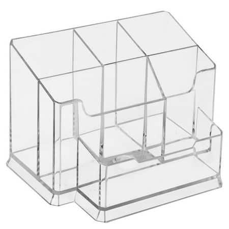 suport birou din plastic 6 compartimente forpus fumuriu 8963