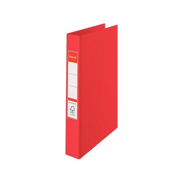 caiet mecanic a4 esselte standard vivida 2 inele 42 mm rosu 9722