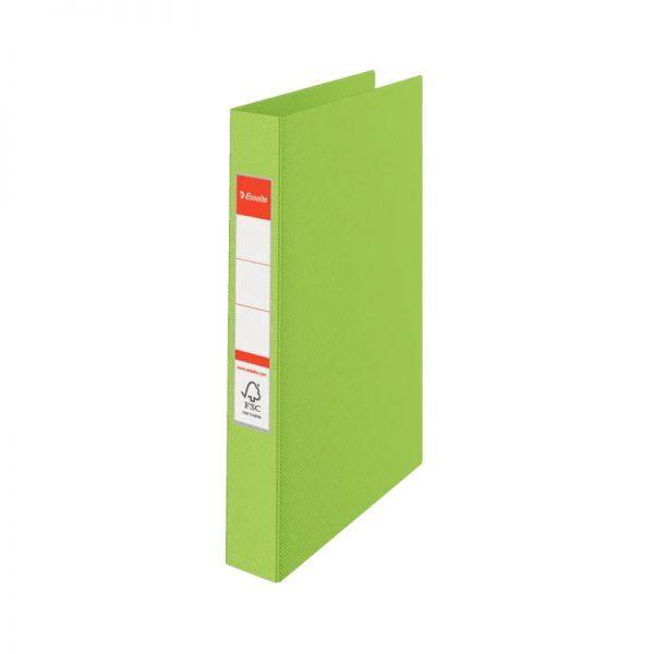 caiet mecanic a4 esselte standard vivida 2 inele 42 mm verde 9723