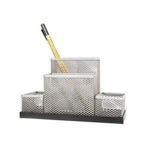 suport plasa metalica pt accesorii de birou forpus argintiu 8966