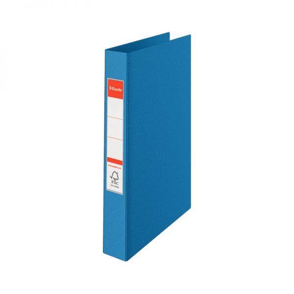 caiet mecanic a4 esselte standard vivida 4 inele 42 mm albastru 9725
