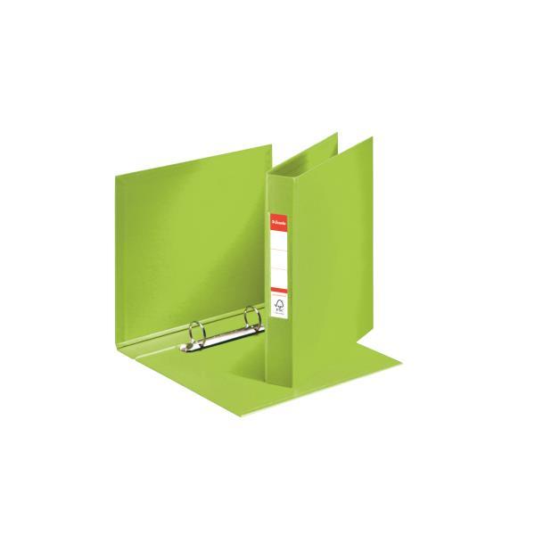 caiet mecanic a5 esselte standard vivida 2 inele 42 mm verde 9733