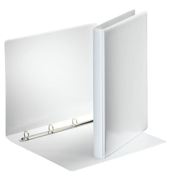 caiet mecanic personalizabil a4 esselte panorama 4 inele 77 mm alb 9743