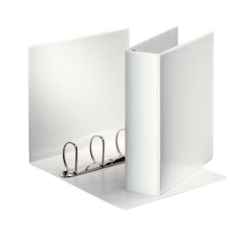 caiet mecanic personalizabil a4 esselte panorama 4 inele 86 mm alb 9744