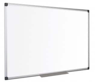 tabla magnetica cu rama din aluminiu bi office 90x120 cm 9187