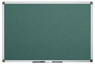 tabla nemagnetica pt creta cu rama din aluminiu bi office 90x120 cm verde 9225