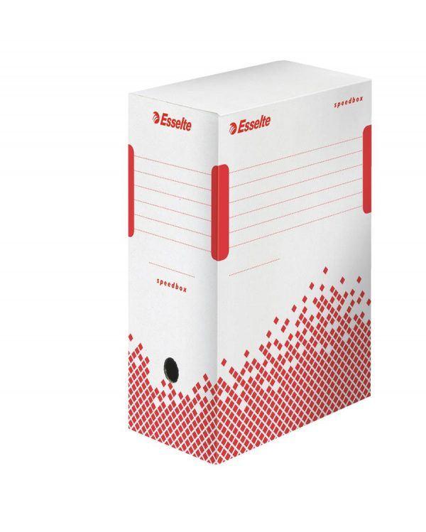 cutie de arhivare din carton alb esselte speedbox 350x150x250 mm 9775