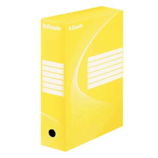 cutie de arhivare din carton galben esselte vivida 352x100x250 mm 9780