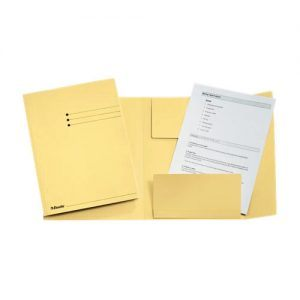 dosar din carton plic esselte galben 9790