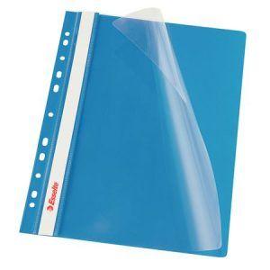 dosar din plastic cu sina esselte albastru 9794