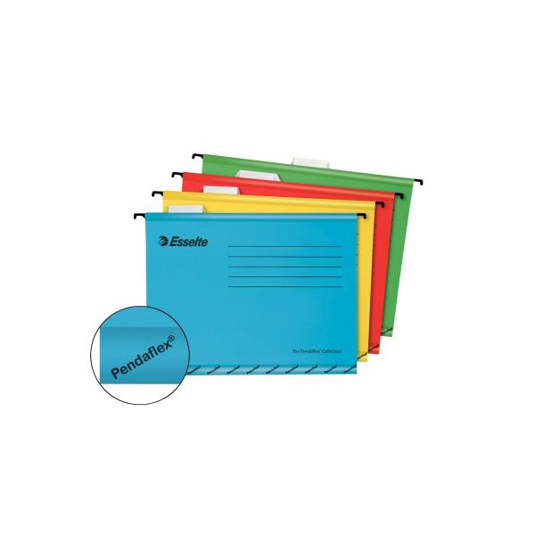 dosar suspendat cu eticheta esselte pendaflex standard galben 9820
